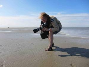 Fotografe Chantal aan het werk