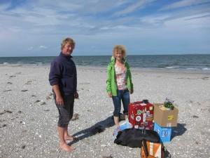 Met Peter op het strand