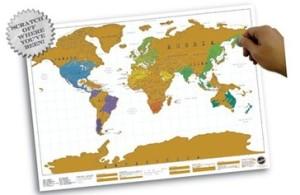 scratch map, cadeau, reiziger